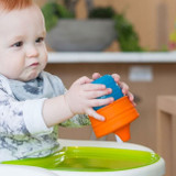 Snug Spout Universal Silicone Sippy Lids and Cup: Blue Multi Set