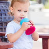 Snug Spout Universal Silicone Straw Lids and Cup: Pink Multi