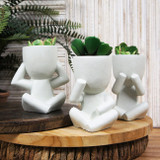 Hear, See or Speak no Evil Planters - 15cm