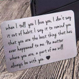 Love Note Engraved Wallet Card