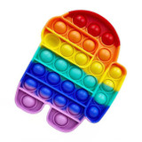 Among Us Rainbow Silicone Push Pop It Bubble Fidget Toy NZ