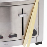 Bamboo Toast Tongs with Magnet