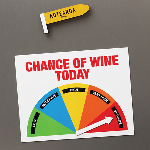 Wine-O-Meter Fridge Magnet
