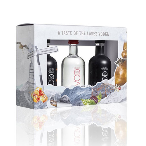 The Lakes Distillery Mixed Vodka Miniatures Gift Pack