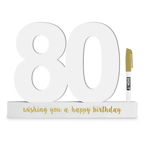 80th Birthday Gold Signature Block