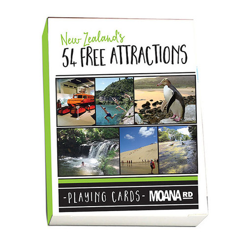 New Zealand's 54 Free Attractions Playing Cards
