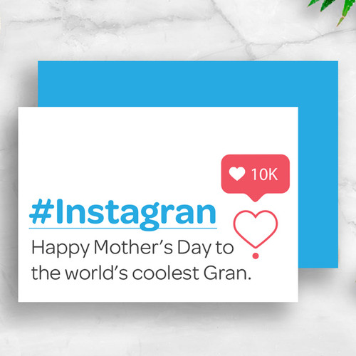 #Instagran - Coolest Grandma Mother's Day Card