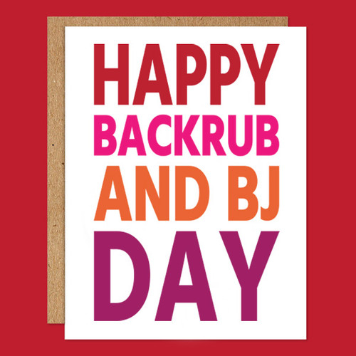 Happy Backrub and BJ Day Card