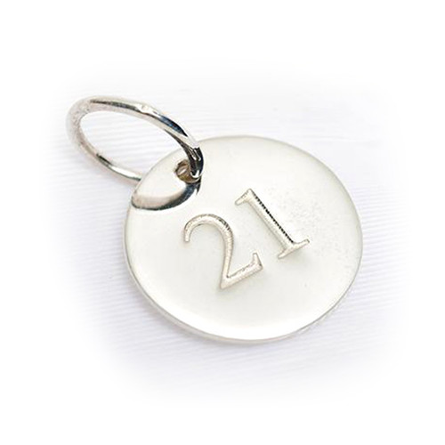 21 Sterling Silver Charm