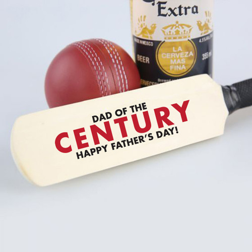 Dad of the Century Mini Cricket Bat