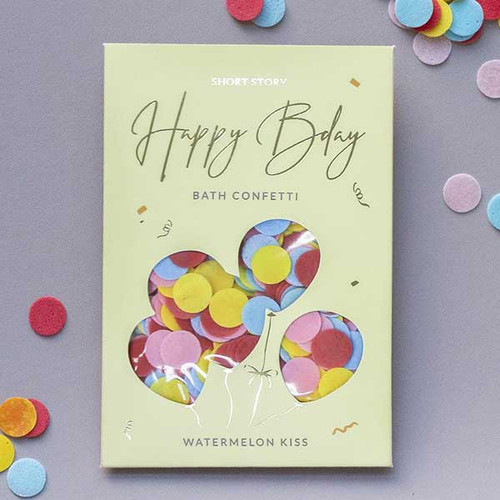 Happy Birthday Bath Confetti Card
