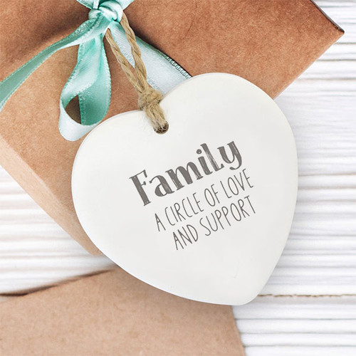Family Loving Hanging Heart