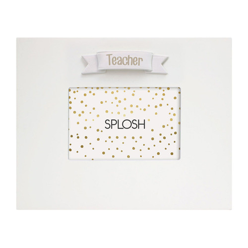 Teacher White Signature Frame