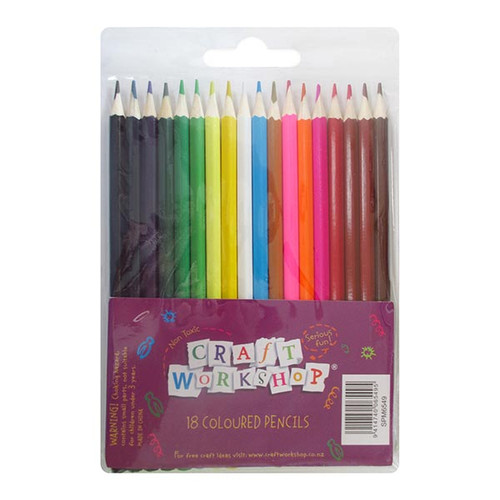 Craft Colour Pencils - 18pc
