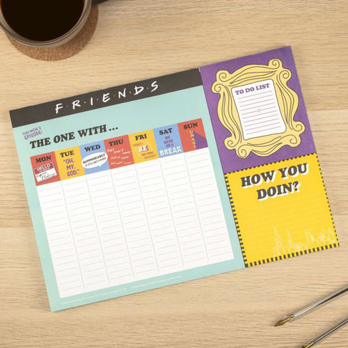 Friends Weekly Desk Planner