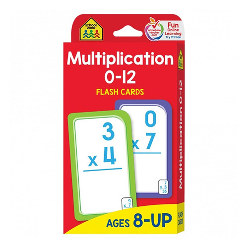 School Zone Flash Cards: Multiplication 0-12