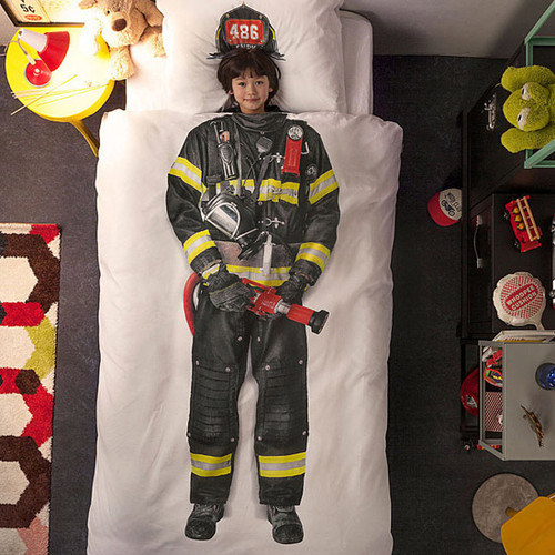 Firefighter Single Duvet Cover