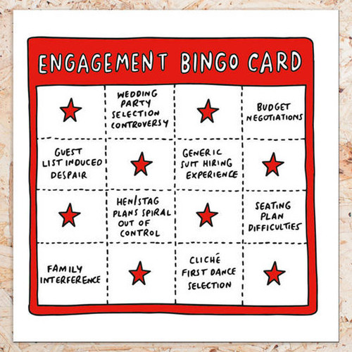 Engagement Bingo Card - Veronica Dearly