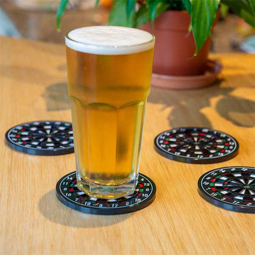 Dartboard Coasters - Pk of 4