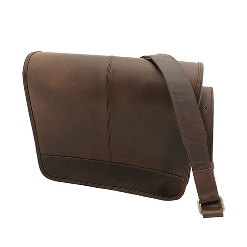 Brown Maxime Messenger Bag with Stripe Lining