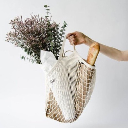 Short Handle Cotton String Bag