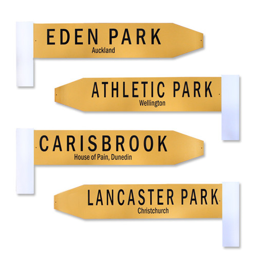 Retro Rugby Park Road Sign