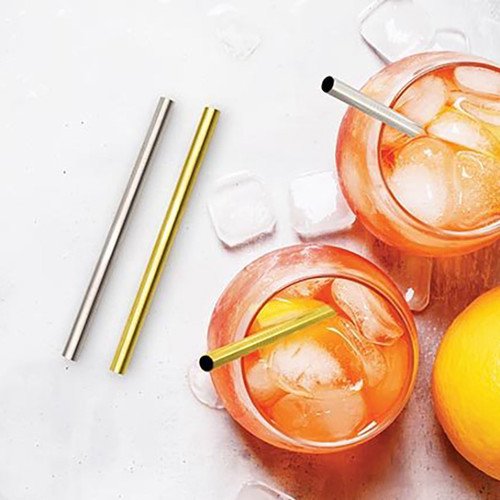 Reusable Metal Cocktail Straws
