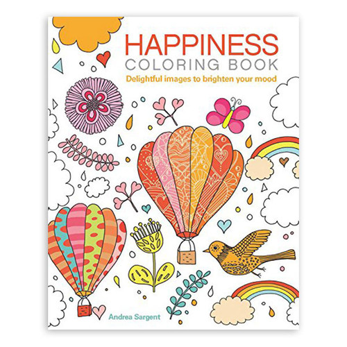 Happiness Adult Colouring Book