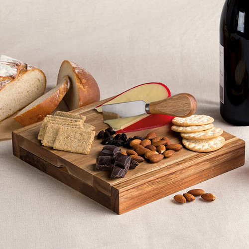 Clamshell Cheese Board with Tools
