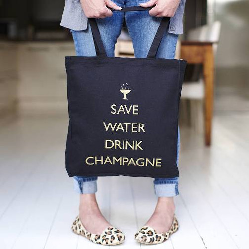 Save Water, Drink Champagne Tote
