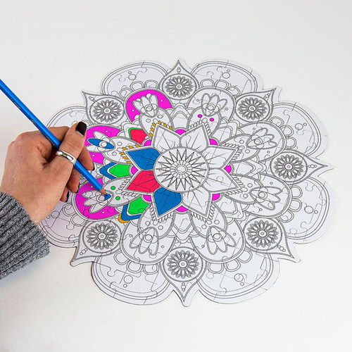 Mandala Colour in Puzzle