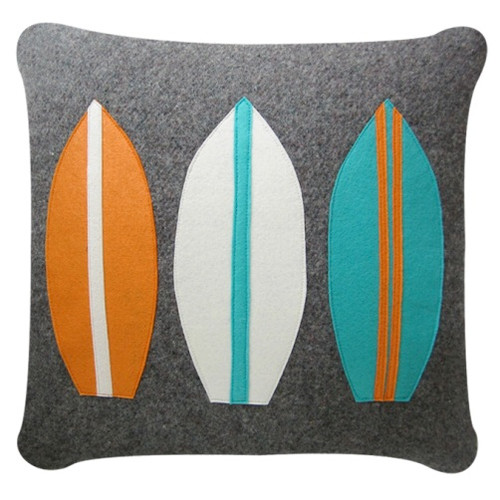 Surfboard Recycled Blanket Cushion Cover