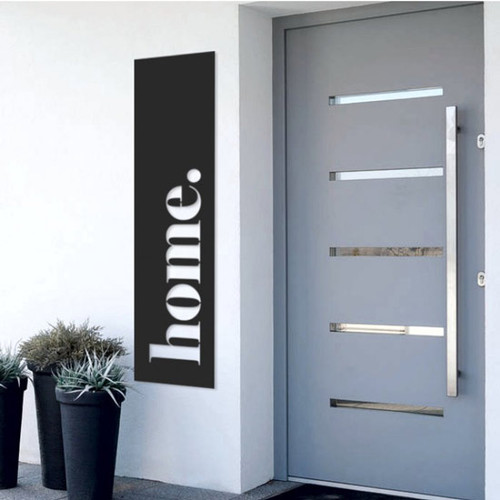 Home Matte Black Steel Art