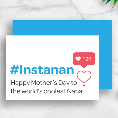 #Instanan - Coolest Nana Mother's Day Card