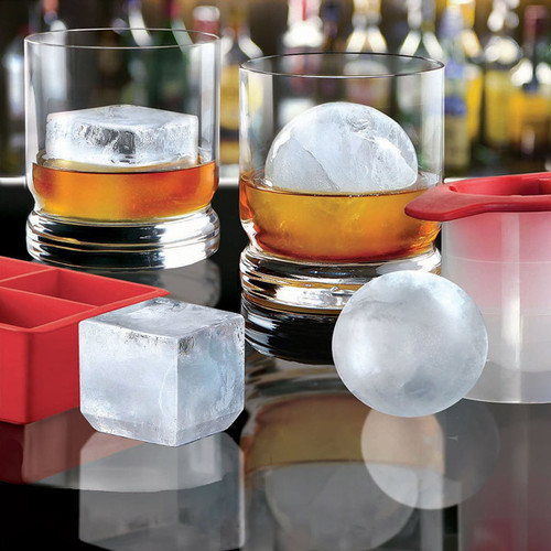Cube & Sphere Ice Mold Combo