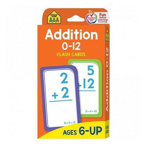 School Zone Flash Cards: Addition 0-12