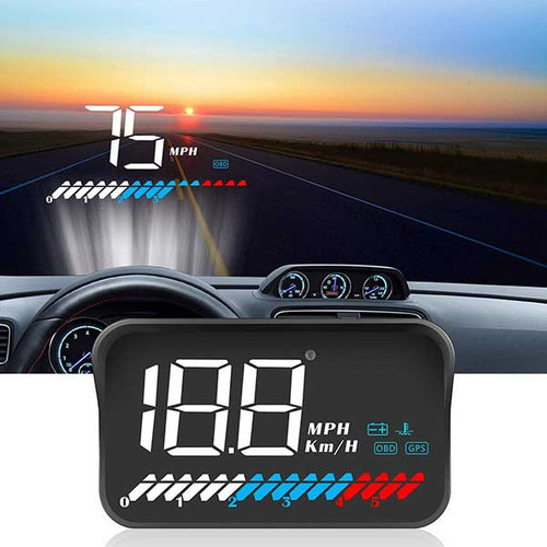 GPS Speedometer Head-Up Display with OBDII Data
