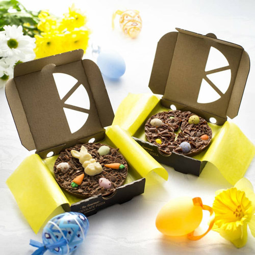 Easter Bunny Mini 4 inch Chocolate Pizza