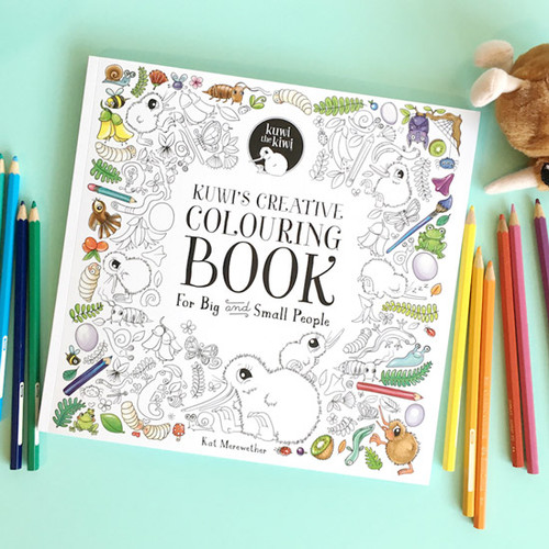 Kuwi's Creative Colouring Book + Kuwi Soft Toy