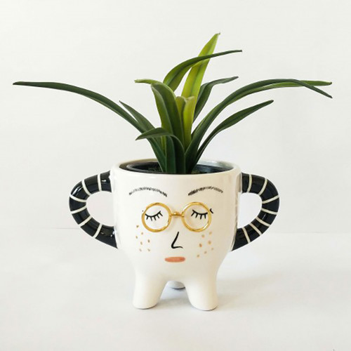 Lady with Glasses Planters with Legs