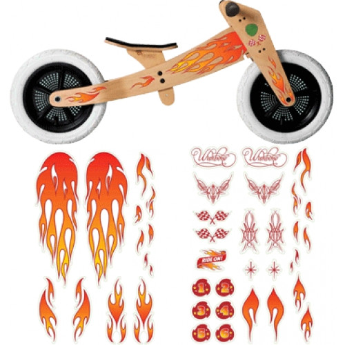 Wishbone Bike Flame Stickers