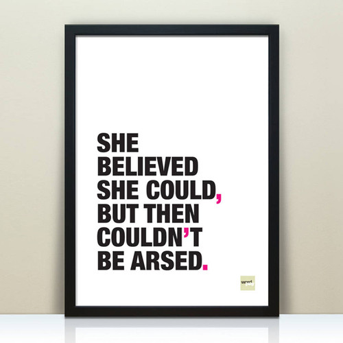 She Believed She Could Print