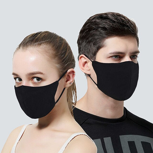 Black Reusable Face Mask NZ