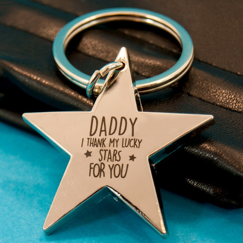 Daddy I Thank My Lucky Stars for You Keyring
