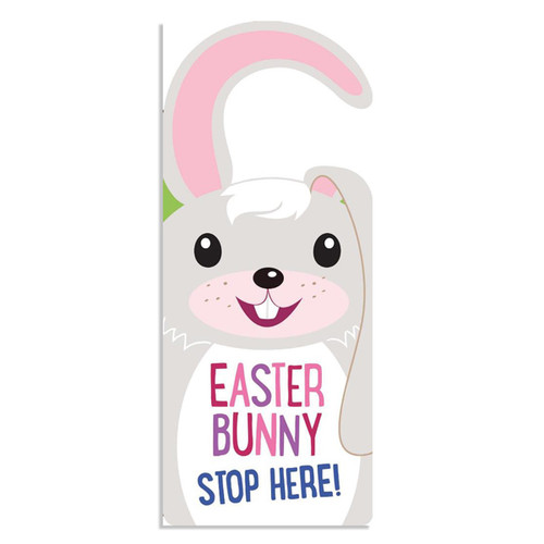 Easter Bunny Stop Here Door Hanger Book