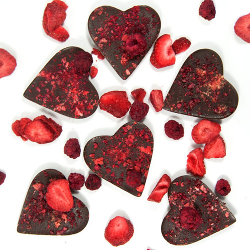 Small Very Berry Hearts (6pk)