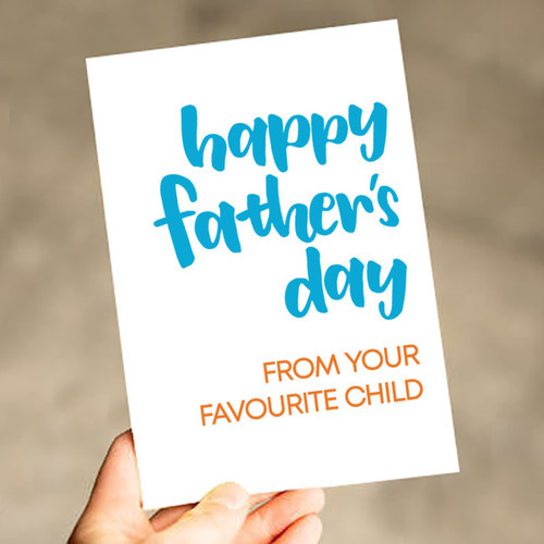 Favourite Child Father's Day Card nz