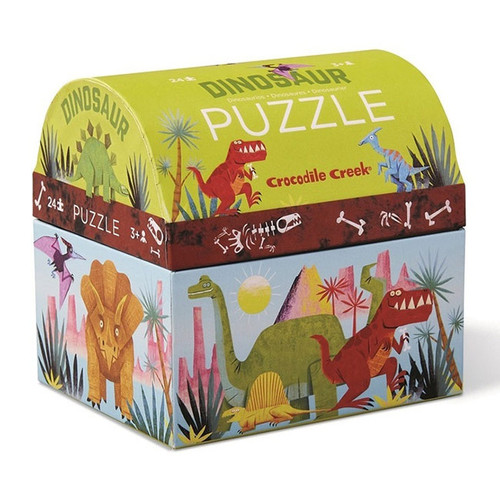 Croc Creek: Mini Shaped Puzzle 24 pc - Dinosaur