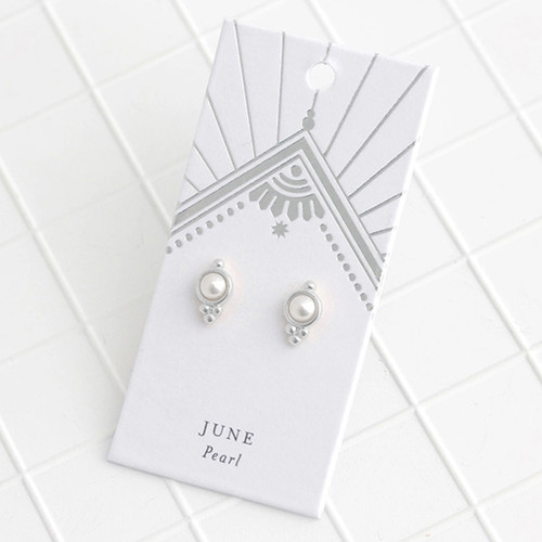 Silver Birthstone Earrings