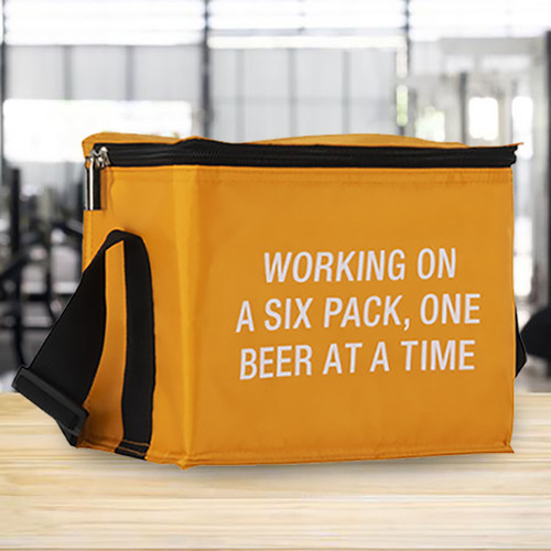Working on a Six Pack Small Cooler Bag NZ